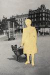 43- dame avec chien - 20 x 30 cm