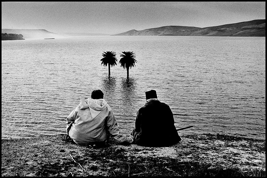 Barrage Idriss I entre Fès et Taza, après des pluies exceptionnelles, 2004